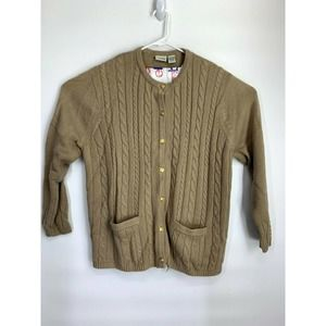 Classic Element Cable Knit Cardigan Sweater 20/22W